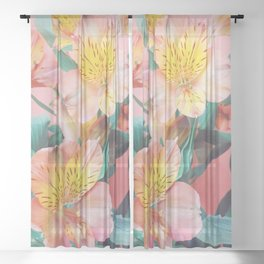 Spring Bouquet Sheer Curtain