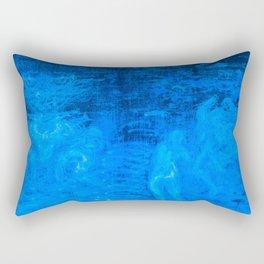 In liquid Indigo Rectangular Pillow