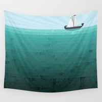 sail Wall Tapestries featuring Sail by Kakel