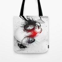 women Tote Bags featuring women by  MuDi