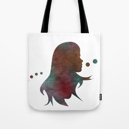 Talking Bubble (colorful silhouette) Tote Bag