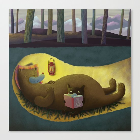 Hibernation Time Canvas Print