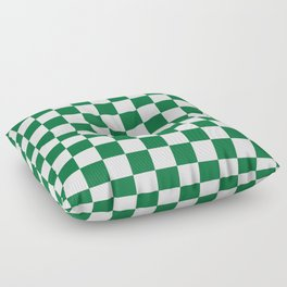 Checkered (Dark Green & White Pattern) Floor Pillow
