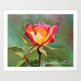 """Lonely Rose #1"" Art Print"