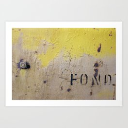 Fond Art Print