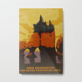 New Brunswick Travel Poster Metal Print