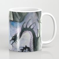 maleficent Mugs featuring Maleficent by Giulia Colombo