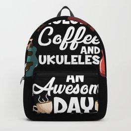 Ukulele Player & Coffee Drinker Backpack