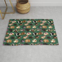 Coonhound Curl Floral Rug