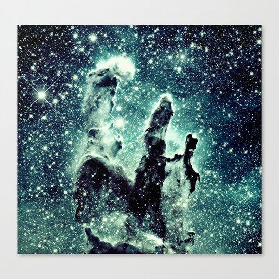 Nebula Galaxy : Teal Pillars of Creation Canvas Print