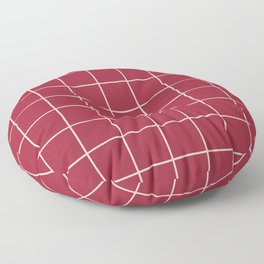 Chili Grid Floor Pillow