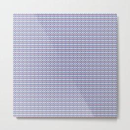 Pastel Chevron Pattern Metal Print