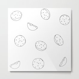 Bagel Bites Confetti Metal Print