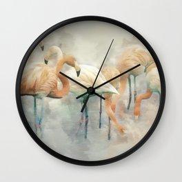 Flamingo Fantasy Wall Clock