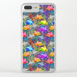 shoal of fish Clear iPhone Case