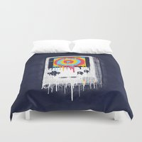 gaming Duvet Covers featuring Gaming by Ronan Lynam