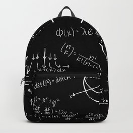 Chalkboard Math Equations Backpack