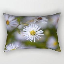 Aster Flowers Rectangular Pillow