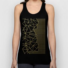 Ab Outline Grid Black and Gold Unisex Tank Top