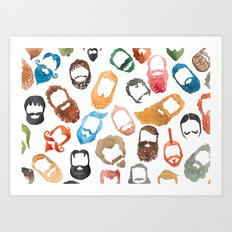 Beards on Beards Art Print