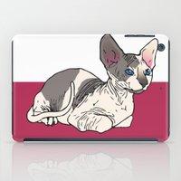 sphynx iPad Cases featuring Sphynx by Mariel Castro