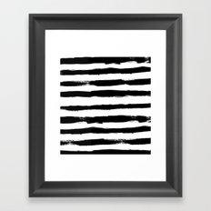 Black Stripe Pattern Framed Art Print