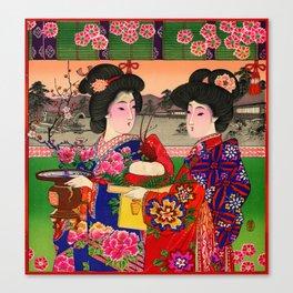 Two Geishas Canvas Print