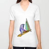 sailing V-neck T-shirts featuring Sailing by Digital-Art