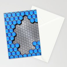 Blue Metallic Scale Stationery Cards