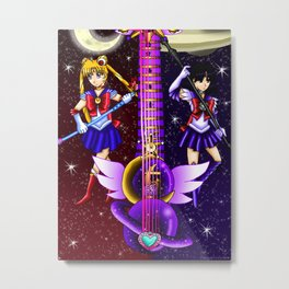 Fusion Sailor Moon Guitar #6 - Sailor Moon & Sailor Saturn Metal Print