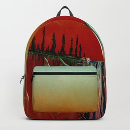 Cascade in Cantaloupe Colors Backpack