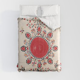 Tashkent Suzani Kokand Uzbekistan Embroidery Print Comforters