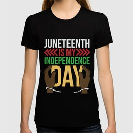 Juneteenth Celebration Black Flag June 19 1865 T-shirt