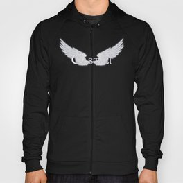 Castiel with Wings White Hoody