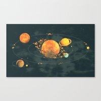 solar system Canvas Prints featuring Solar System by Timothy J. Reynolds