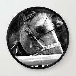 Rodeo Horses Wall Clock