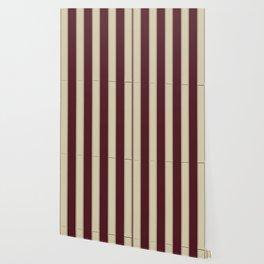 Burgundy Stripes Wallpaper