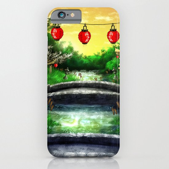 A Bridge Over Placid Waters iPhone & iPod Case