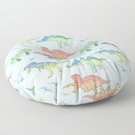 DINOSAURS!, painting by Frank-Joseph Floor Pillow