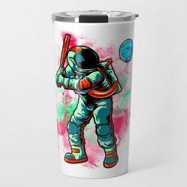 Astronaut Baseball Batting Earth In Outer Space Travel Mug