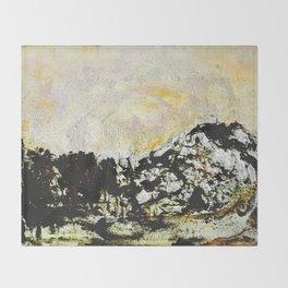 Golden mountains Throw Blanket