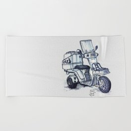 Honda delivery scooter japan Beach Towel