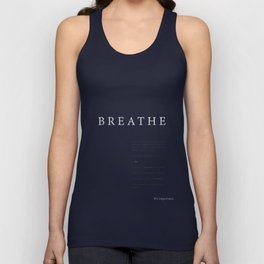 Breathe. A PSA for stressed creatives. Unisex Tank Top
