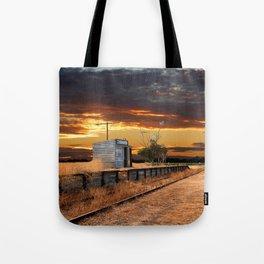 Sunset at the Coonawarra Rail Station Tote Bag