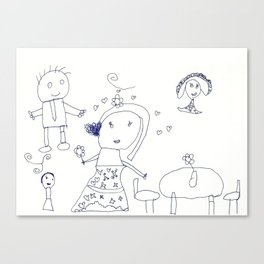 HAPPY FAMILY by Jasmine Wilkes Canvas Print