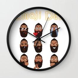 Harden Emoji Wall Clock