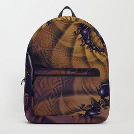 An Emperor Scorpion's 1001 Fractal Spiral Stingers Backpack