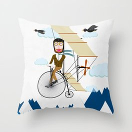 Flying Adventure Throw Pillow