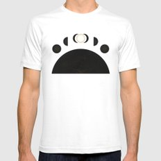 phases of the moon SMALL Mens Fitted Tee White