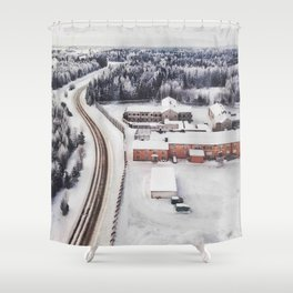 Winter view from the sky Shower Curtain